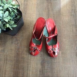 Vivienne Westwood Peeptoe Backless Heels